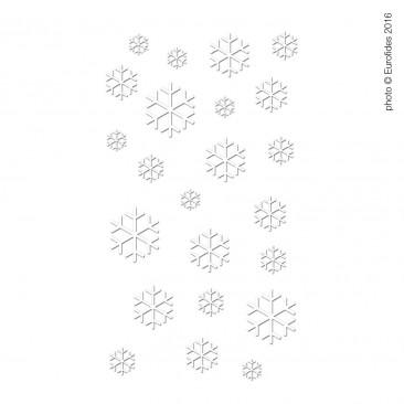 Vetrofania Cristalli di Neve