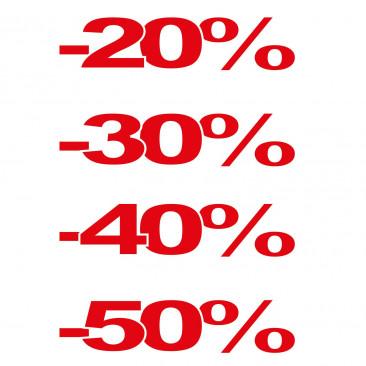 Confezione 4 Percentuali Orizzontali
