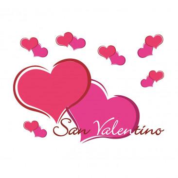 Scritta Angolare Cuori San Valentino