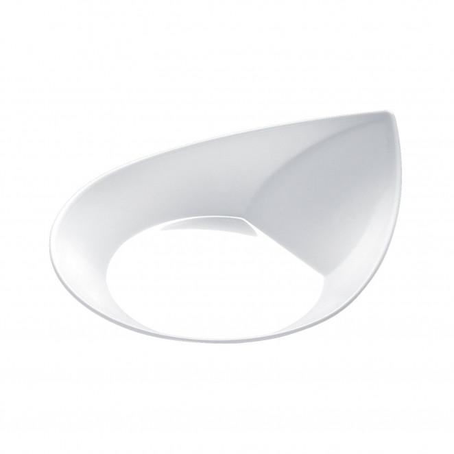 Piattino Foglia Bianco