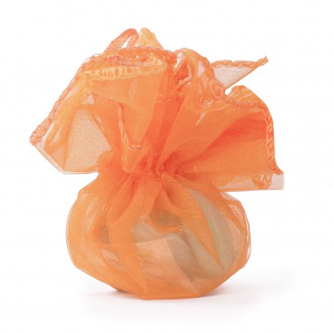 Sacchetti Organza con Laccetto Arancio