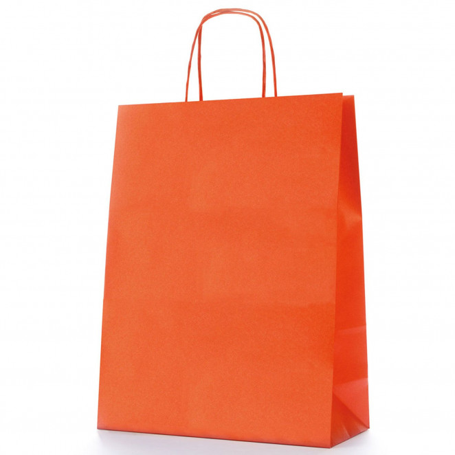 Shopper Carta Colorata Arancio