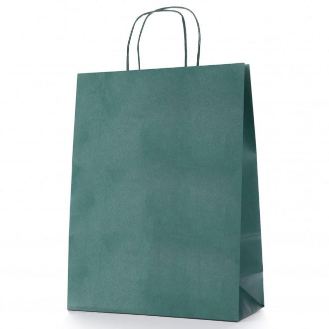 Shopper Carta Colorata Verde Scuro