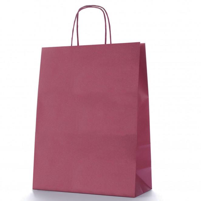 Shopper Carta Colorata Bordeaux