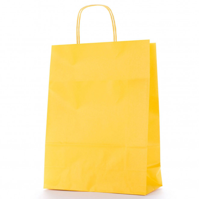 Shopper Carta Colorata Giallo