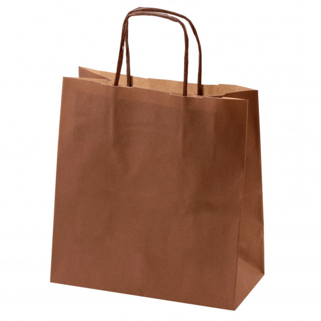 Shopper Carta Kraft Colorata Marrone