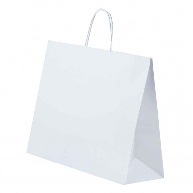 Shopper Carta Kraft cordino Bianco