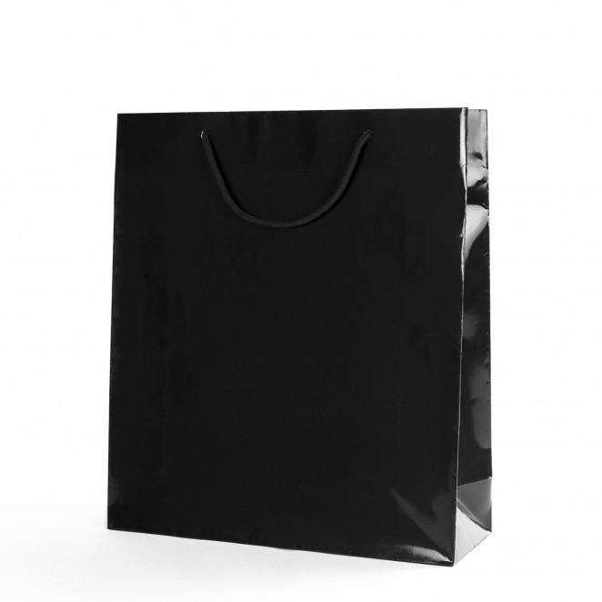Shopper Carta Lusso Lucida Nero
