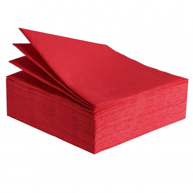Tovaglioli Tissue Unicolor 38x38 cm Rosso